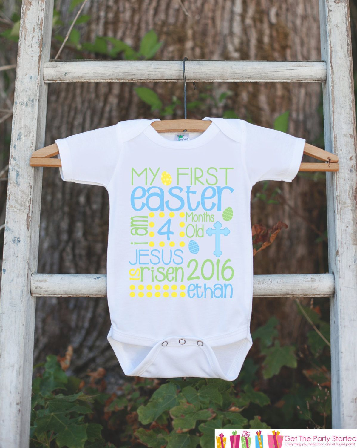 Boys first easter outfit personalized easter onepiece baby boys first easter outfit personalized easter onepiece baby boys first holiday kids 1st negle Gallery