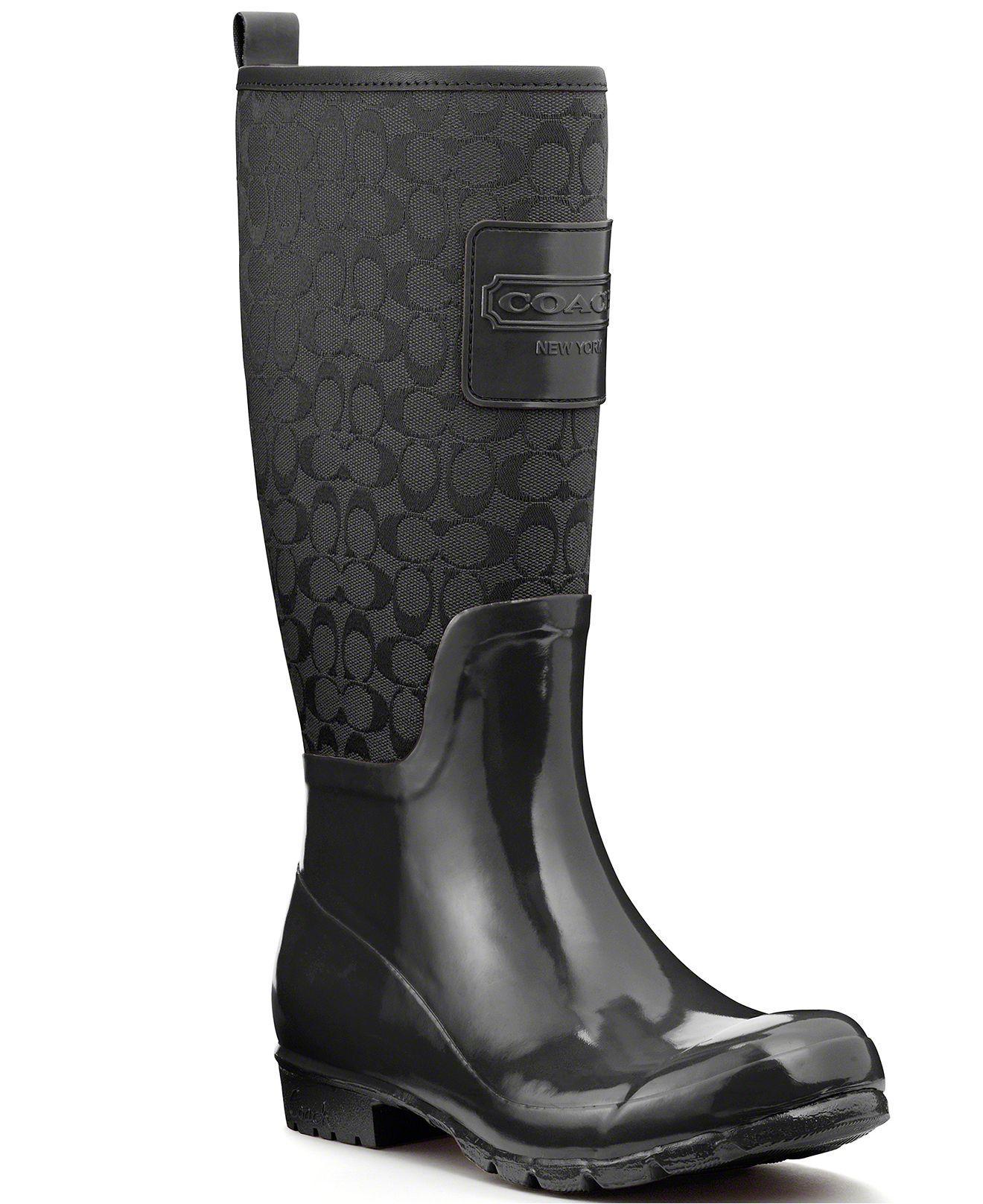 Womens Boots COACH Pearla Black/Black
