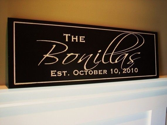 Personalized Family Name Sign Carved Engraved Custom Wood Sign Last Name Sign FN