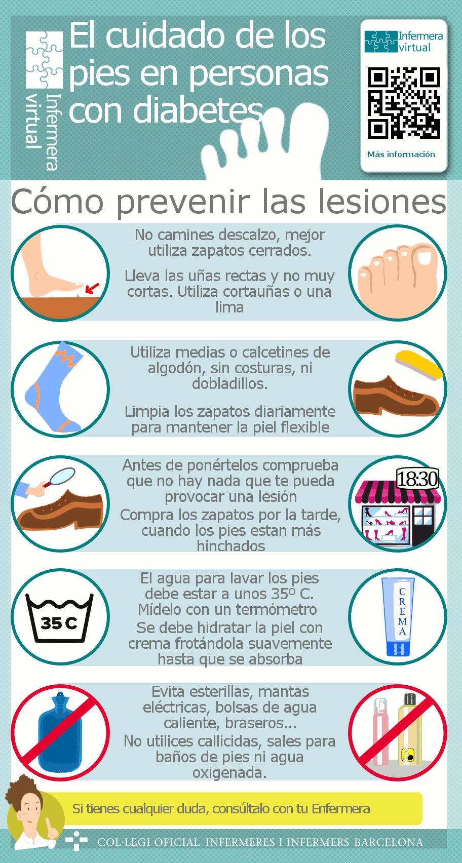 Cuidado de los pies | Afiches Diabetes | Pinterest