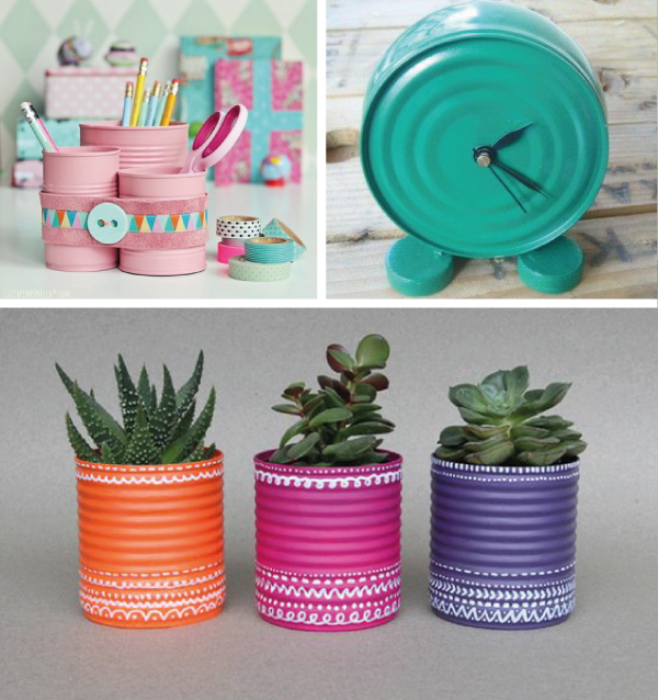 Hermosas ideas para reciclar latas reciclado sumo y ideas for Decoracion reciclaje ideas