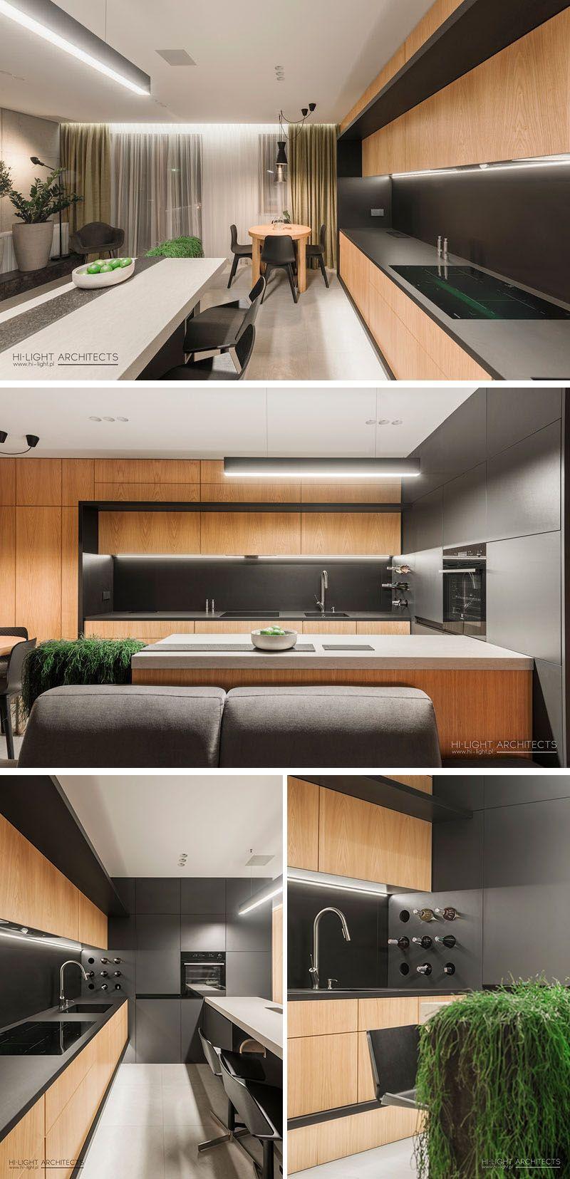Déco maison cuisine en u ilot central moderne cuisines petites cuisines