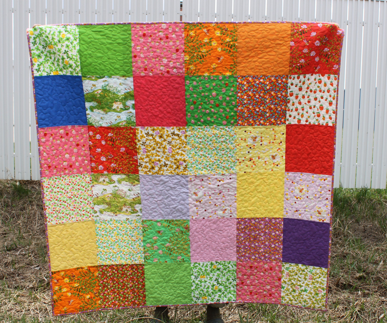Modern Handmade Quilt for Sale, Homemade quilt, Briar Rose Lap ... : handmade quilt sizes - Adamdwight.com