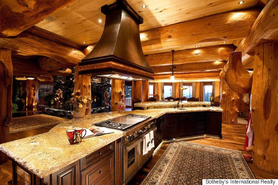The 70 000 Dream Kitchen Makeover: Big White Luxury Log Castle Crafted From Centuries-Old