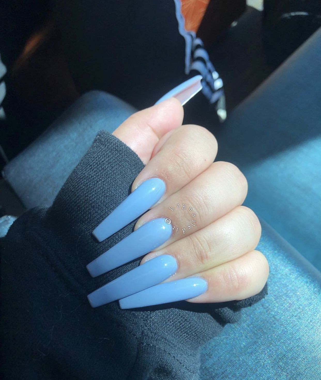 S0icyy Blue Stiletto Nails