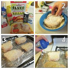 Oven Fried Chicken Using The Cookie Cooling Rack To Make The
