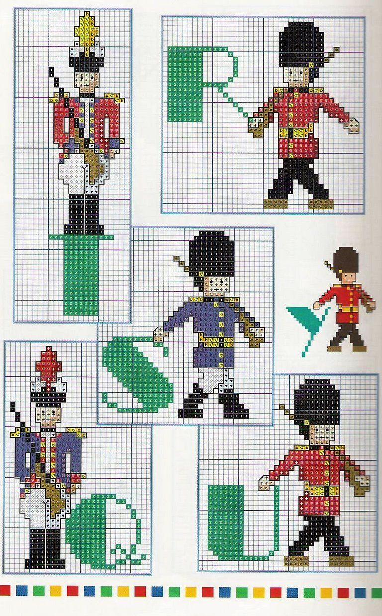 L 39 angolo di mal 3 alfabeti per bambini cross stitch for Alfabeti a punto croce per bambini