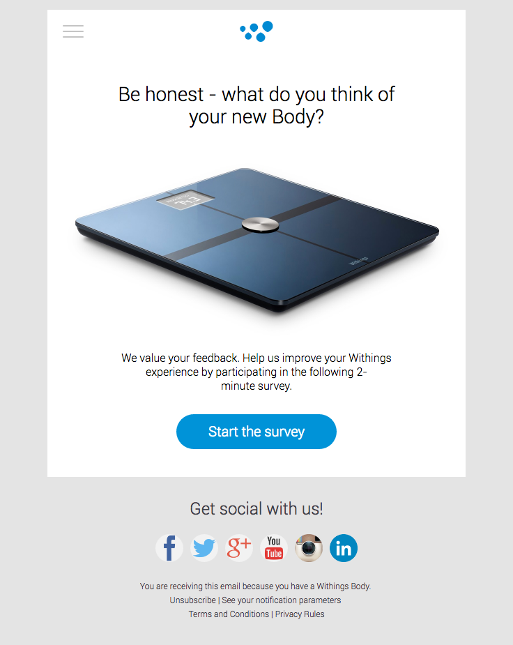 Withings Sent This Email With The Subject Line Hi Really Good