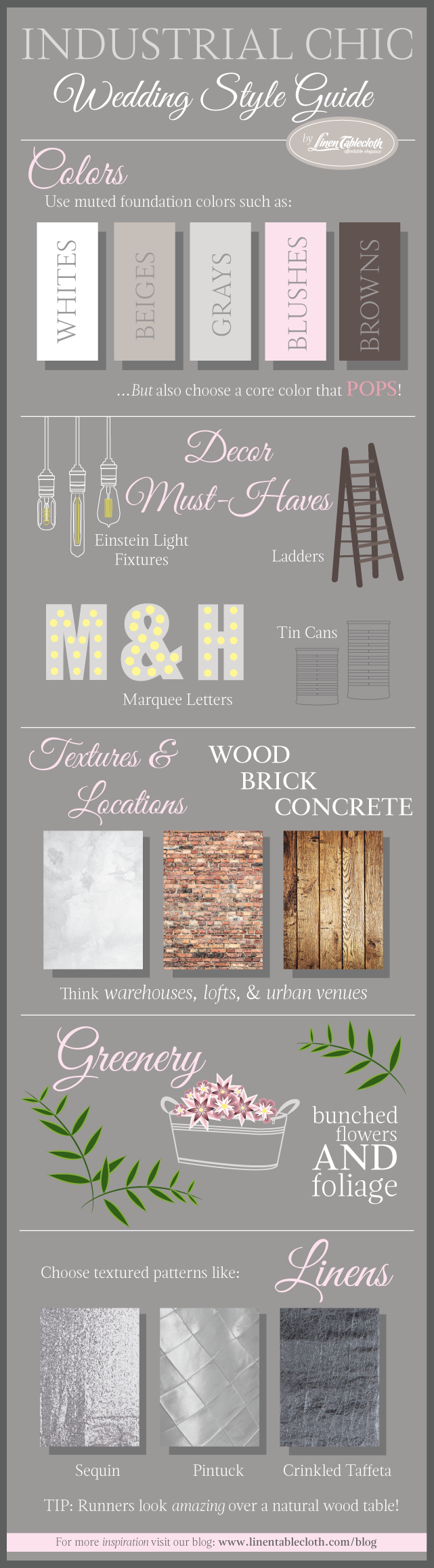 Industrial Chic Wedding Style Guide Infographic | Industrial chic ...