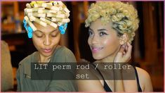 UPDATED PERM ROD / ROLLER SET 2017   NEW EXCLUSIVE HAIR PRODUCTS + GIVEAWAY J MAYO - YouTube