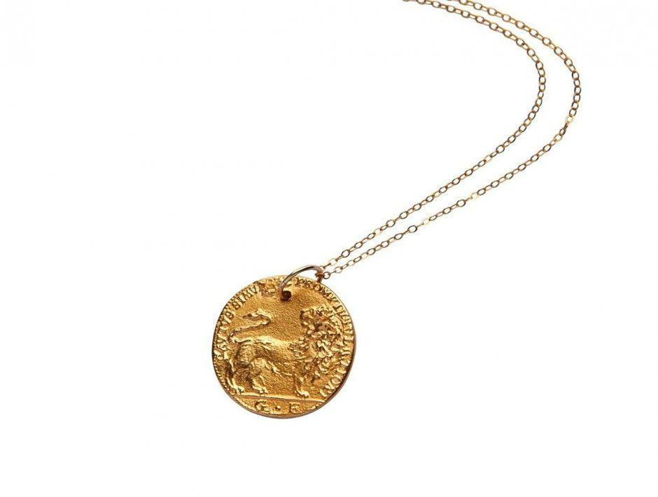0f520094a79011 il-Leone-Necklace | Style | Coin jewelry, Fashion, Bronze pendant
