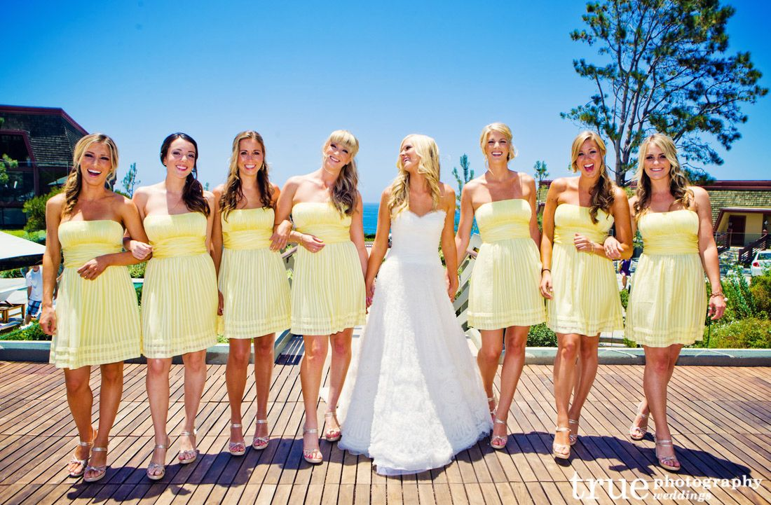 Yellow-Bridesmaids-Dresses | From Our Blog | Pinterest | Yellow ...