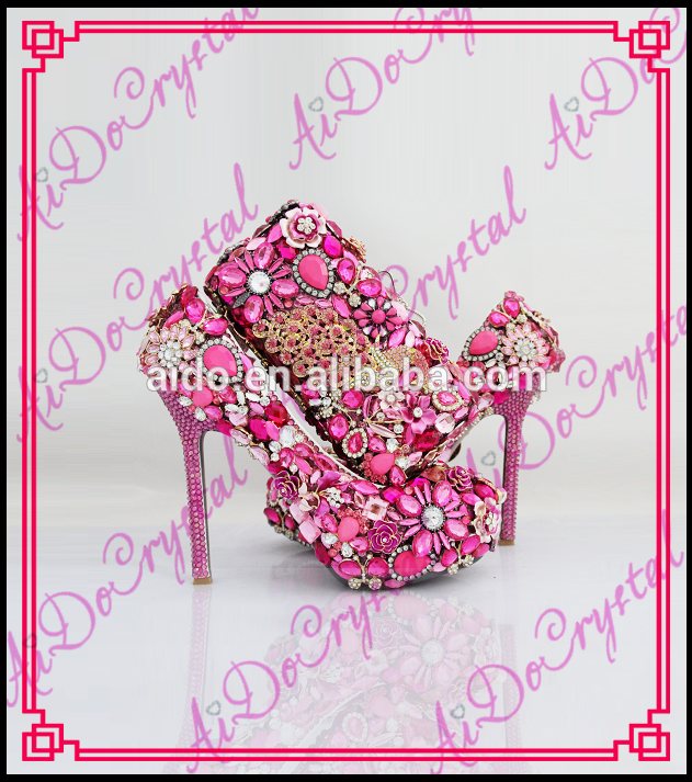 c98223e3e447 Aidocrystal handmade top designer peach color italian shoes and bags bridal  shoes and matching bags