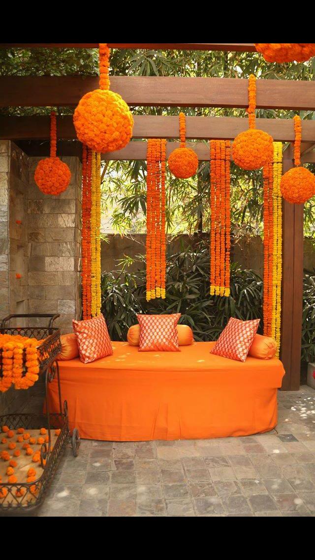 Marigold Decor Decoration Wedding Decorations Wedding Haldi