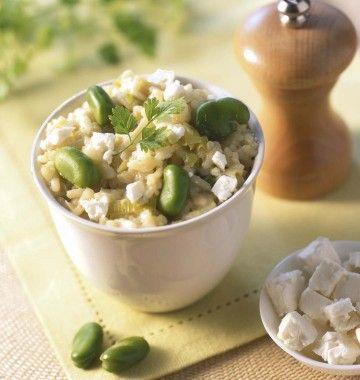 Photo de la recette : Risotto aux fèves