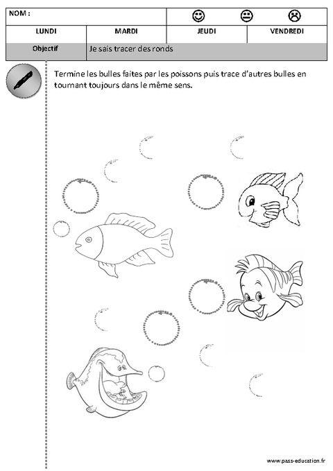 Préférence Graphisme : je sais tracer des ronds | Matern.2 PS : Graphisme  KK29