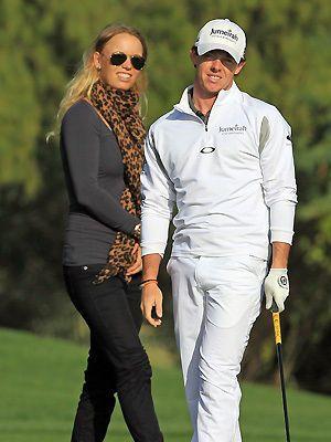 Rory Mcllroy With Caroline Wozniacki