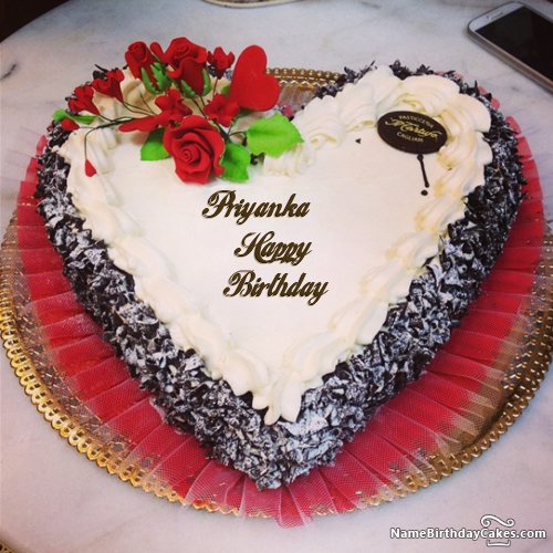 The Name Priyanka Is Generated On Happy Birthday Images Download