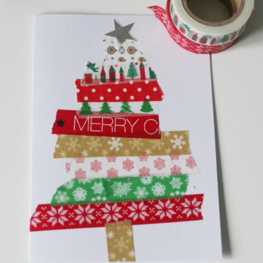 easy kid made christmas cards  christmas cards kids