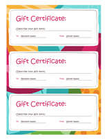 Bright design gift certificate template travel pinterest gift bright design gift certificate template yadclub Choice Image