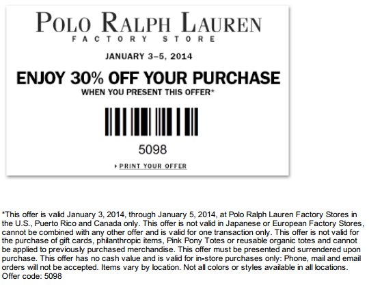 photograph relating to El Torito Coupons Printable known as Polo Printable Coupon Printable Discount coupons Ralph lauren