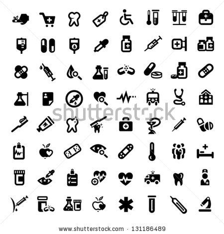 Big Medical And Health Icons Set Created For Mobile Web And
