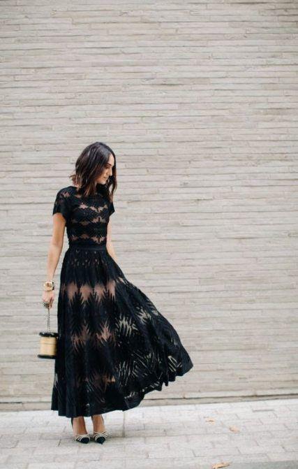 Best Wedding Guest Outfit Fall Black Ideas #weddingguestdress
