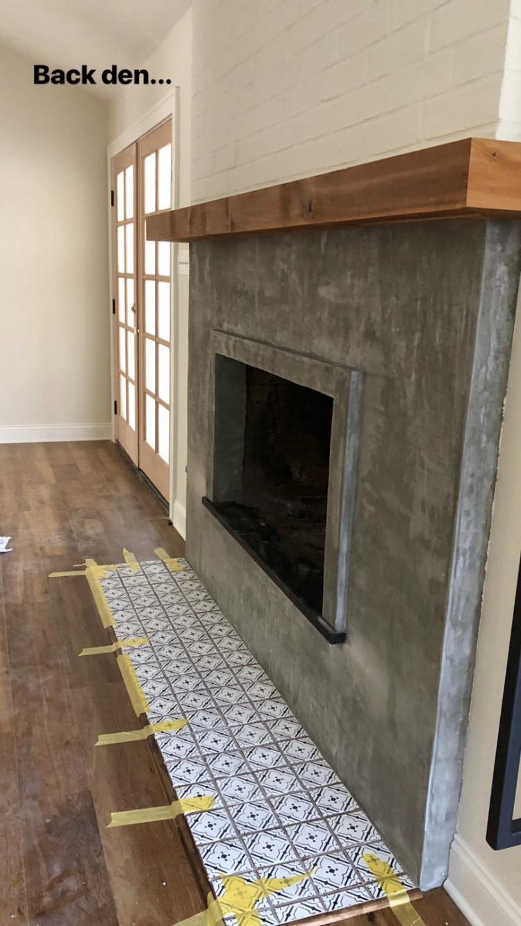 Joannagaines By Joanna Gaines Concrete Fireplace Fireplace Remodel Home