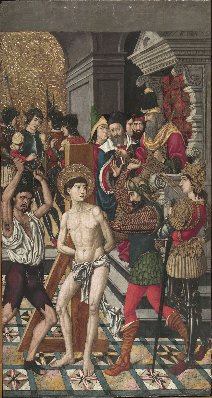 Flagellation of St. Vincent. Master of Castelsardo, c.1500. National Art Museum of Catalonia