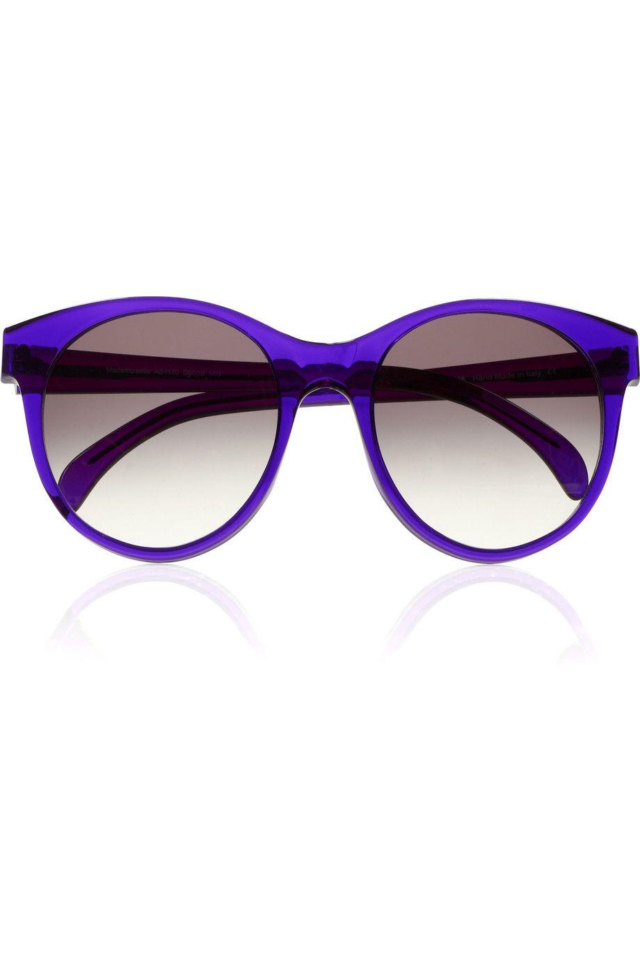 Illesteva - Mademoiselle round-frame acetate sunglasses