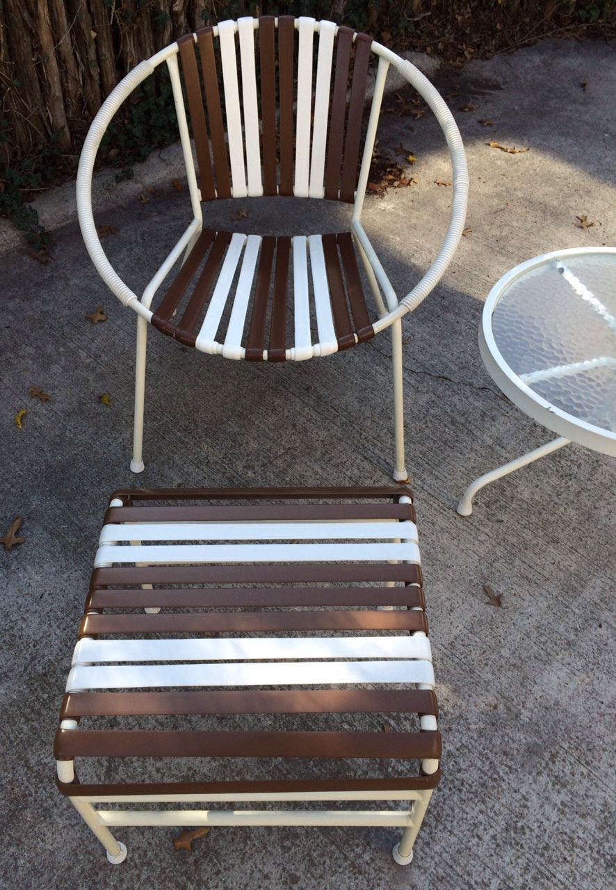 Strange Vintage Mallin Mid Century Hoop Chair Ottoman Side Table Pdpeps Interior Chair Design Pdpepsorg