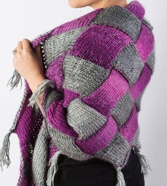 Entrelac Knitting Patterns Shawl Patterns Knitting Patterns And Shawl