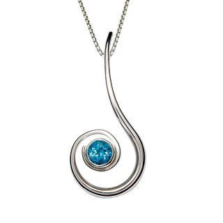 Silver Dancing Clef Gemstone Pendant