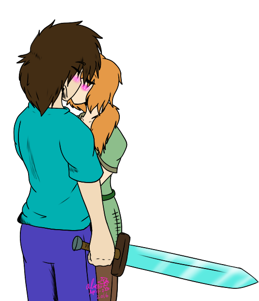 Image Result For Minecraft Steve And Alex Kissing Imagens