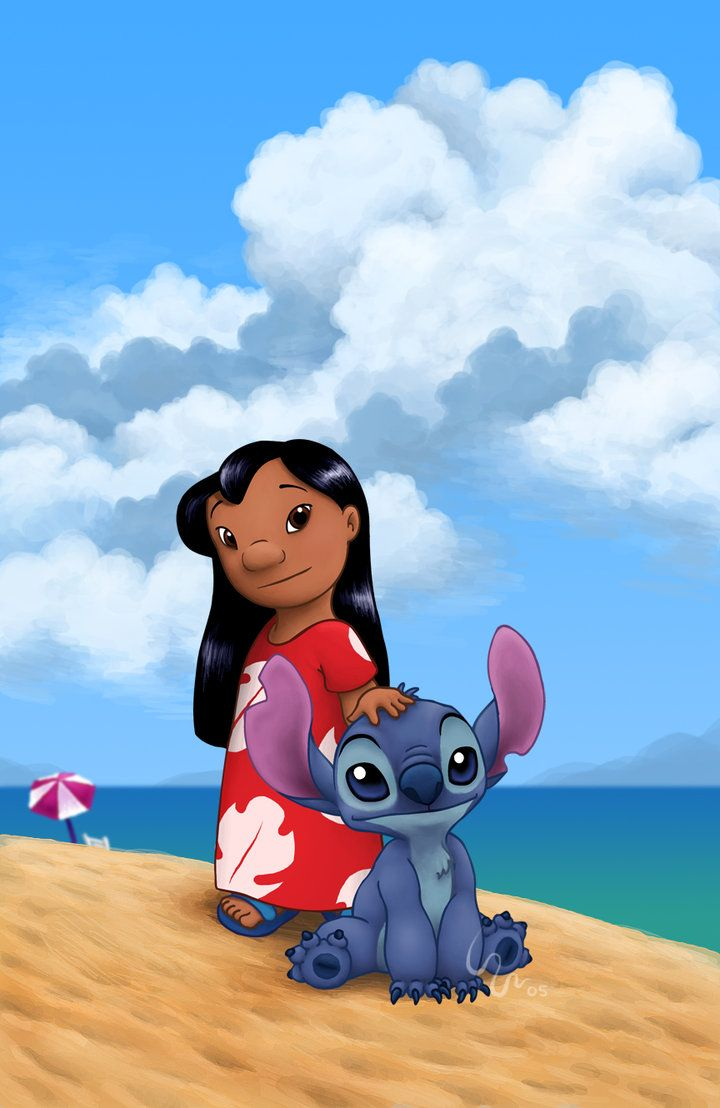 It is an image of Dramatic Pics of Lilo and Stitch