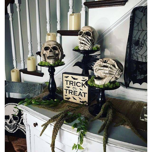 Nancy B Is A Finalist In Grandin Road S Spooky Decor Photo Challenge Cl Fall Halloween Decor Halloween Decorations Indoor Diy Halloween Decorations