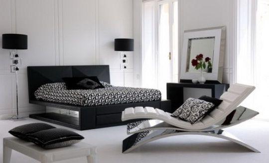 Minimalistic Black And White Bedrooms Idea