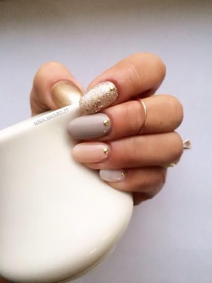 Sally Hansen Neutrals Mani! #sallyhansen #nails #nailart #neutral #ninanailedit