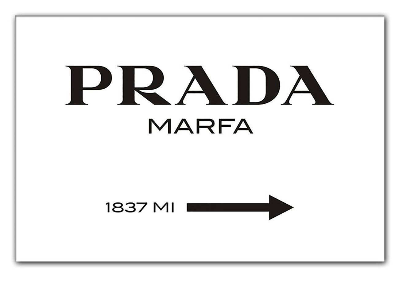 prada marfa leinwandbild bild wie aus gossip girl bild poster viel g nstiger. Black Bedroom Furniture Sets. Home Design Ideas