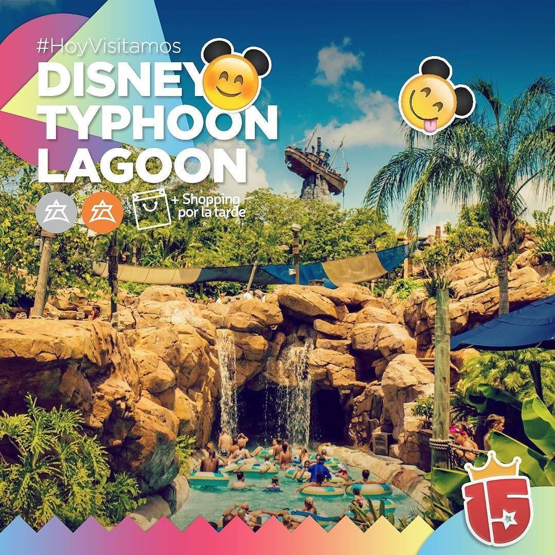 """Con los grupos #plateadoJ16 y #naranjaJ16 nos vamos a conocer Disney's Typhoon Lagoon   el parque de agua que tiene hasta un arrecife de coral el """"Sharl Reef""""!  Por la tarde nos vamos de #shopping!   #EstamosEnDisney!con #enjoy15"""