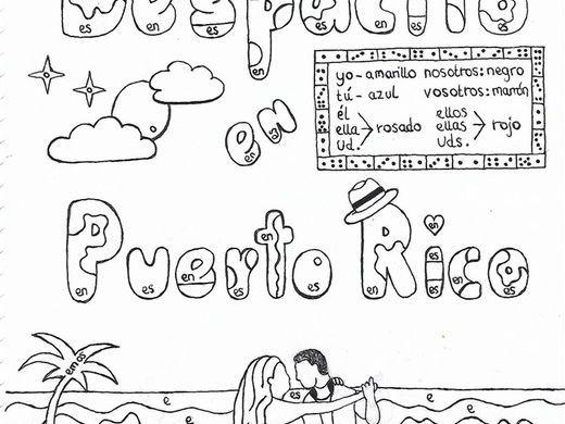 Color by conjugation ER-verbs Spanish Despacito Puerto