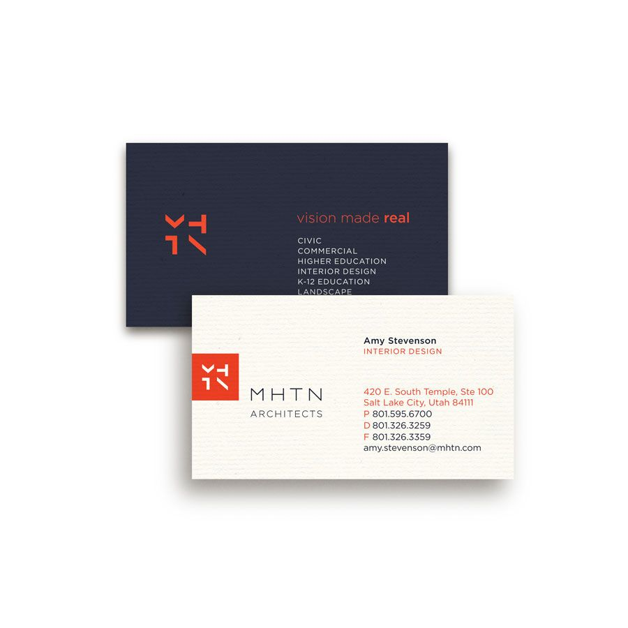 MHTN Architects Business Cards | design | Pinterest | Business ...