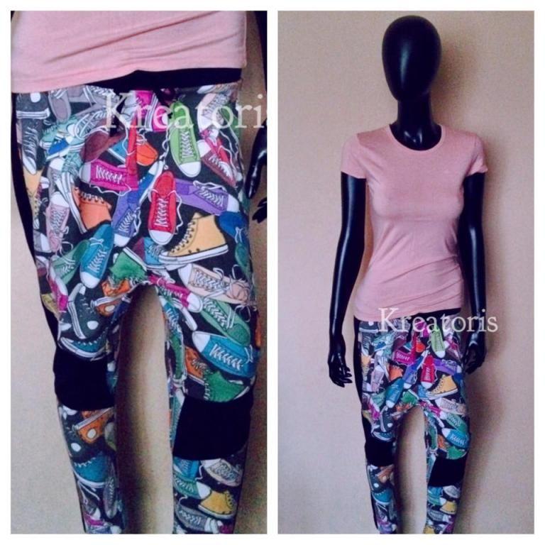 Unikalne Spodnie Niski Krok Baggy Komiks Pop Art 5177967542 Oficjalne Archiwum Allegro Plus Size Pants Pants Fashion