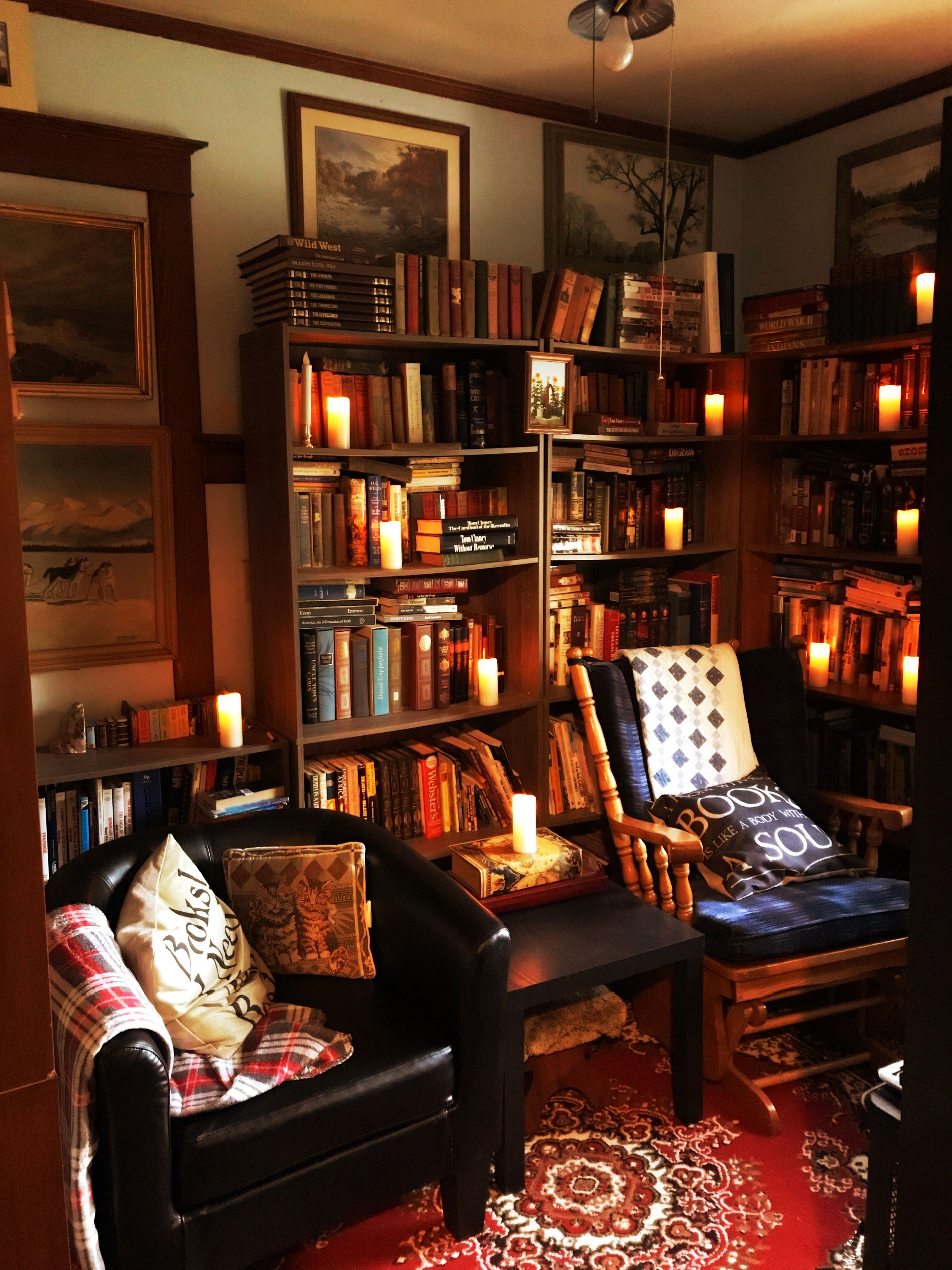 Home library, library, cozy library, small library, DIY ...