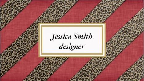 Professional red elegant animal print leopard stripes business card professional red elegant animal print leopard stripes business card httpzazzle reheart Image collections
