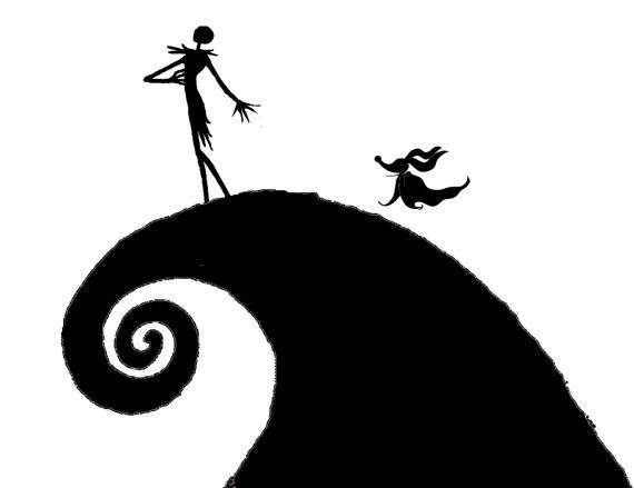 Extra Large Wall Decals Nightmare Before Christmas Vinyl Decals  Jack,  Sally, Oogie Boogie Part 73