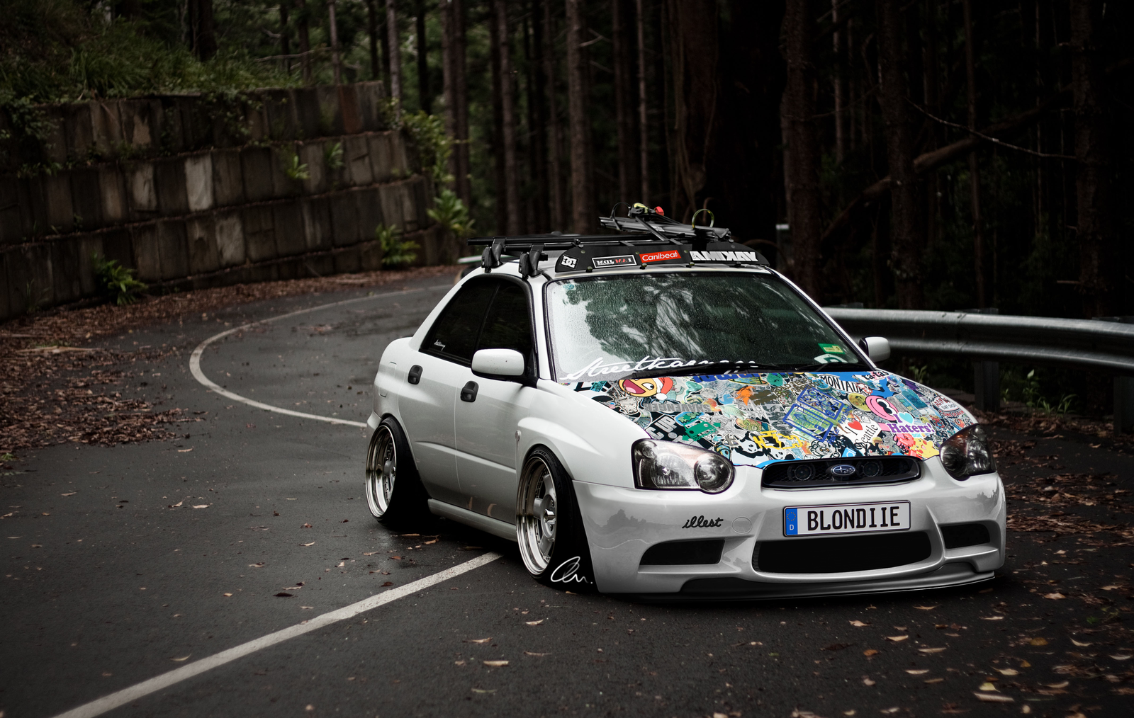 If my car wasnt 2 tone i would rock this hood subaru wagon ideas jdm vanachro Image collections