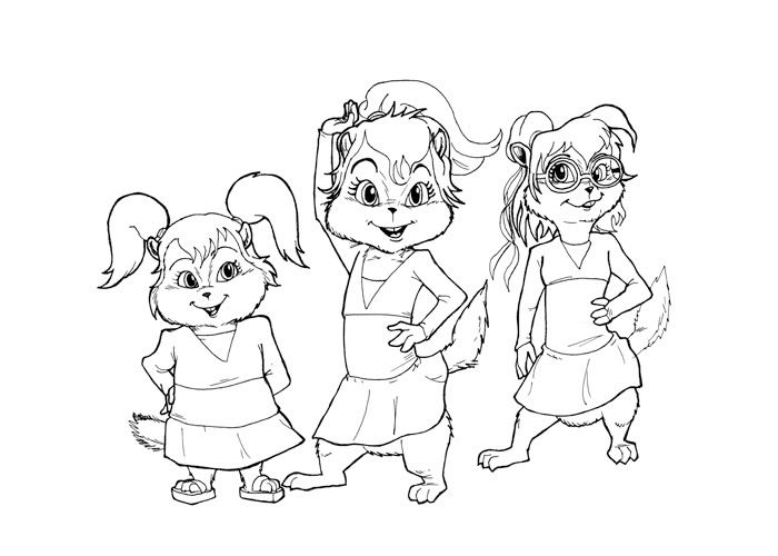Alvin And The Chipmunks Coloring Pages Disney Coloring Pages