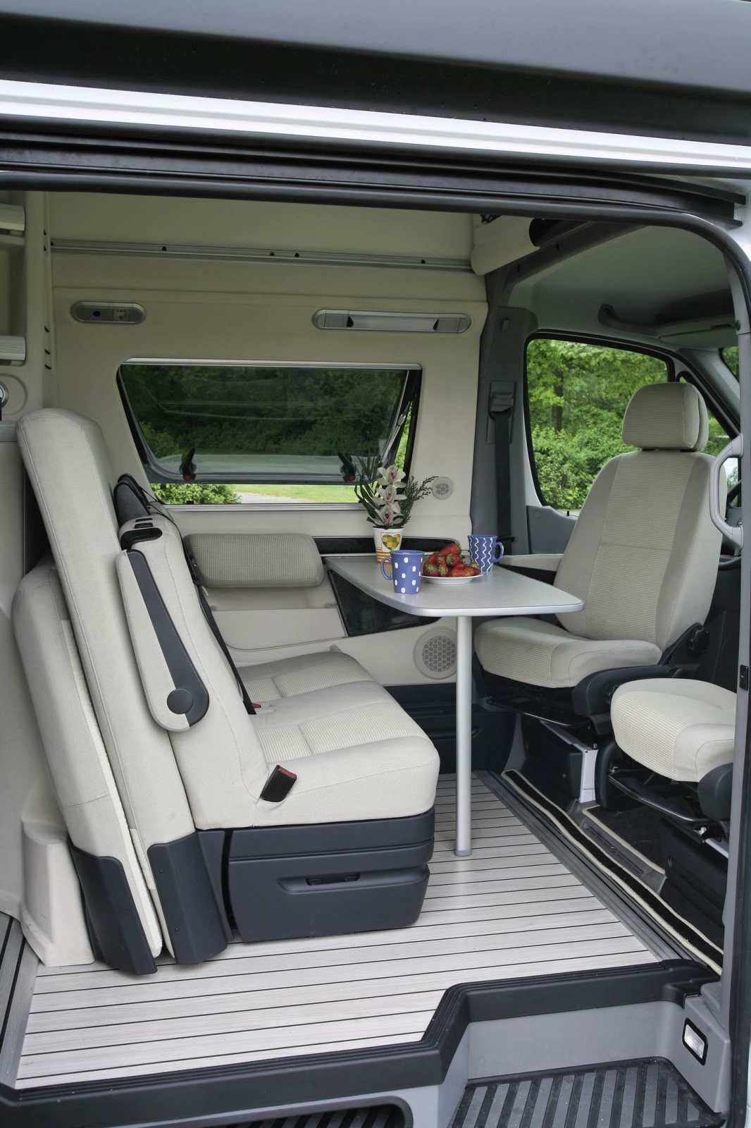 Interior Of The Very Plush Westfalia James Cook Mercedes Sprinter Rv Mercedes Sprinter Camper Van Campervan Interior Mercedes Camper Van