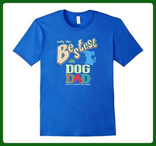 Mens Bestest Dog Dad Best Dog Shirt XL Royal Blue - Animal shirts (*Amazon Partner-Link)